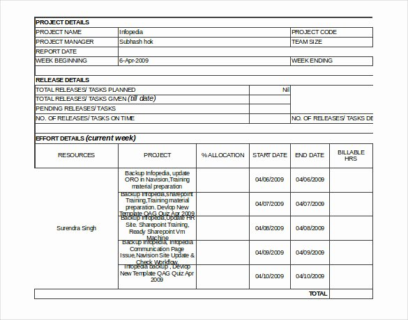 Status Report Template Word New Status Report Template 13 Free Word Documents Download