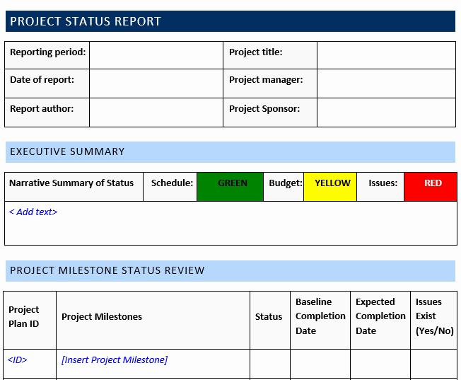 Status Report Template Word Unique Project Status Report Template