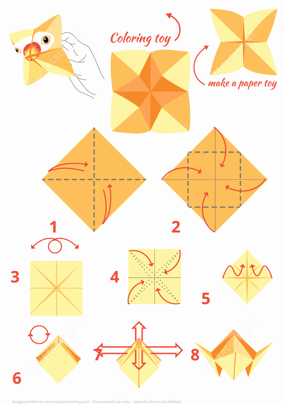 Step by Step Instruction Template Beautiful origami Parrot Instructions