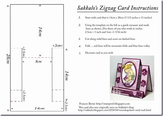 Step by Step Instruction Template Best Of Sakkalo S Zigzag Card Instructions
