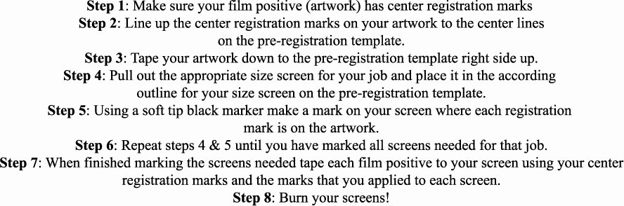 Step by Step Instruction Template Best Of Screen Printing