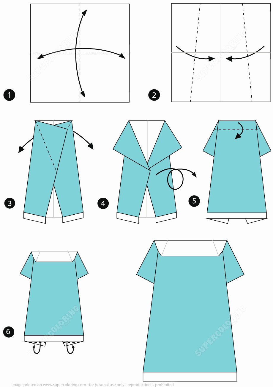 Step by Step Instruction Template Elegant How to Make An origami E Piece Dress Step by Step
