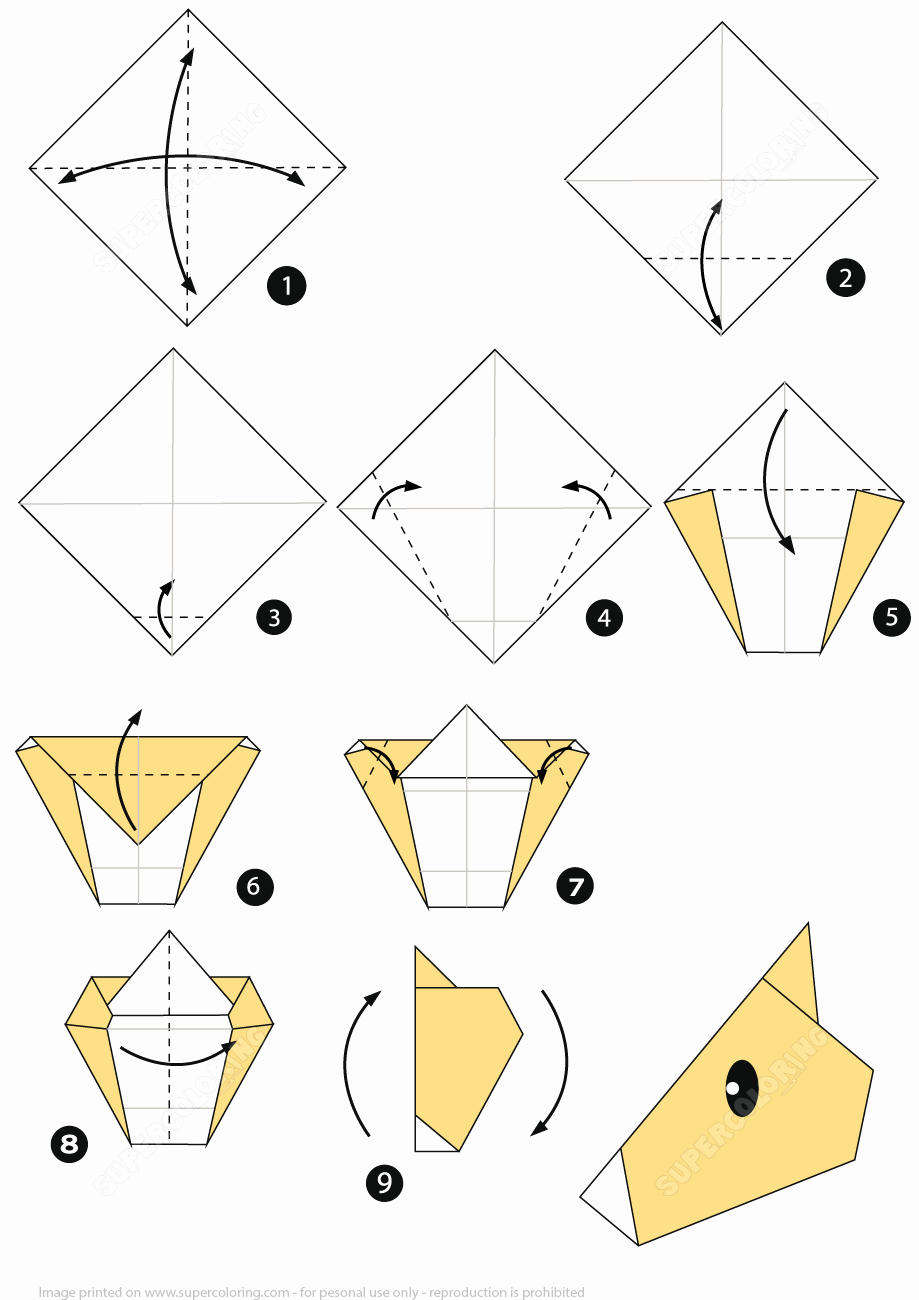 Step by Step Instruction Template Elegant How to Make An origami Horse Face Step by Step