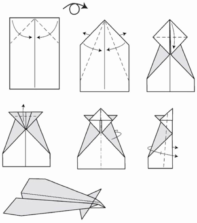 Step by Step Instruction Template Inspirational Conrad Paper Airplane Step by Step Instructions