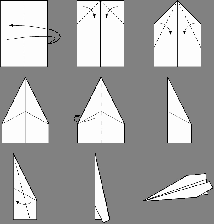 Step by Step Instruction Template Lovely Paper Plane
