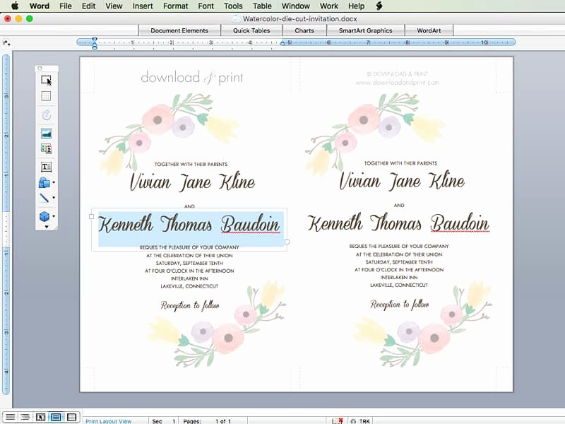 Step by Step Instruction Template Luxury Free Wedding Invitation Template with Watercolor Flowers