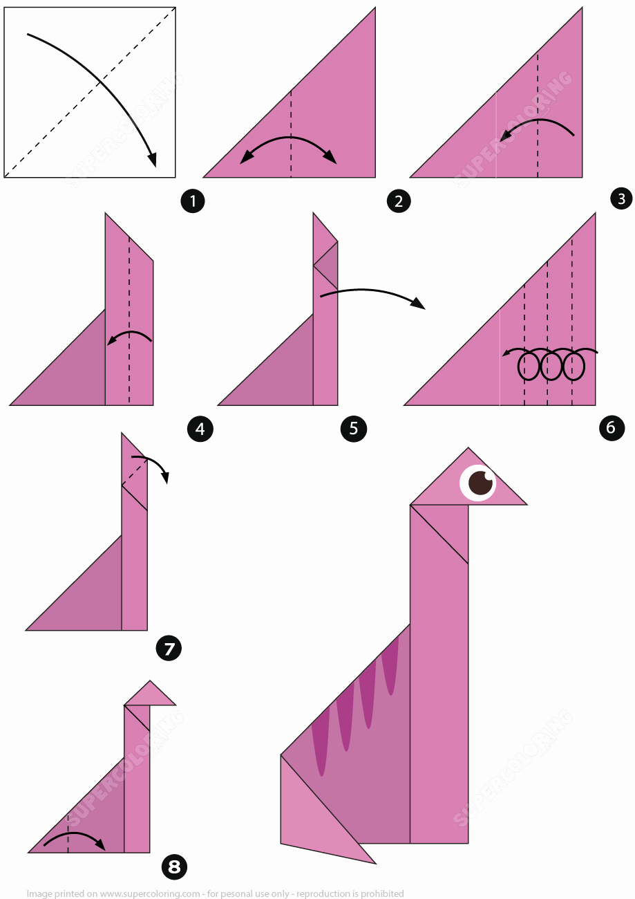 Step by Step Instruction Template New How to Make An origami Brachiosaur Step by Step