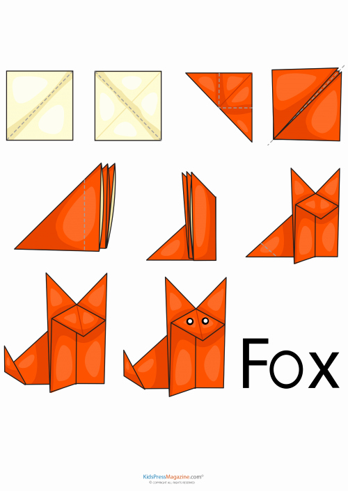 Step by Step Instruction Template Unique Easy origami – Fox Kidspressmagazine
