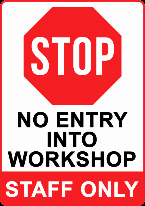 Stop Work order Template Awesome Create & order No Entry Sign