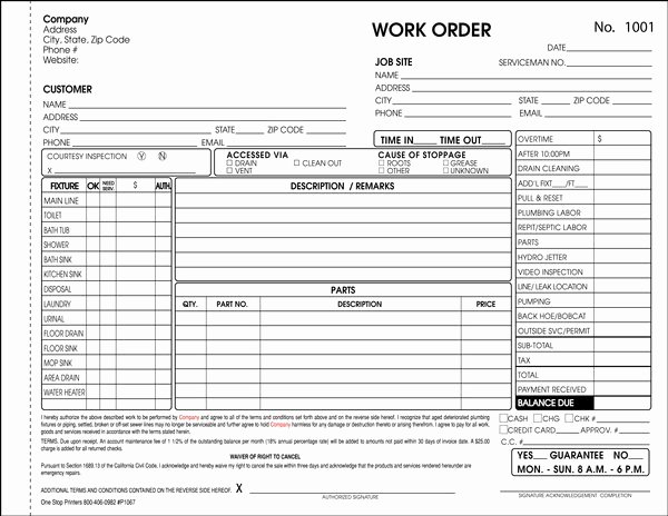 Stop Work order Template Awesome Massachusetts Plumbing Drain Cleaning and Septic System