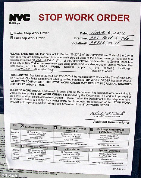 Stop Work order Template Lovely David Schwimmer forced to Stop Construction On Dream Home