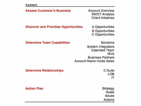 Strategic Account Plan Template Best Of Strategic Account Plan Template