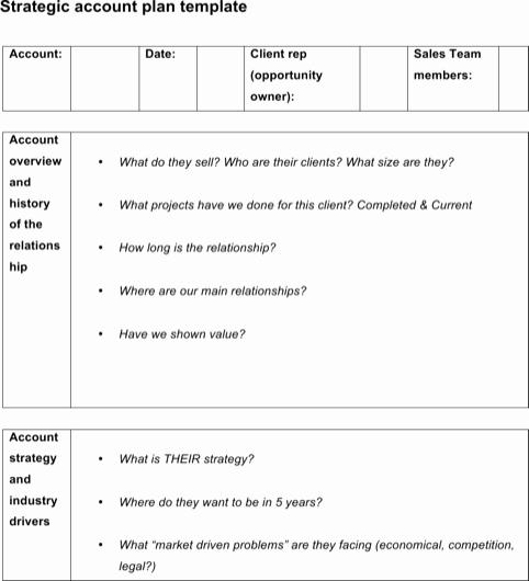 Strategic Account Plan Template Unique Download Sample Strategic Account Plan Templates for Free