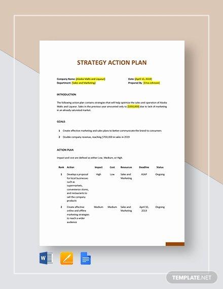 Strategic Action Plan Template Fresh 10 Strategic Action Plan Templates Docs Pdf