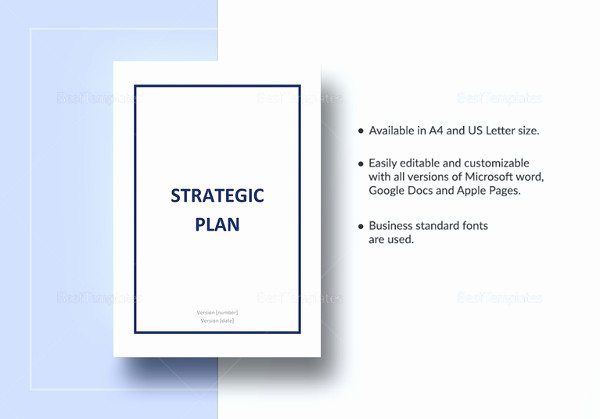 Strategic Plan Template Word Awesome 16 Strategic Plan Templates Pdf Doc