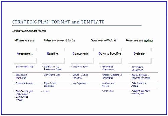 Strategic Plan Template Word Fresh 6 It Master Plan Template Yprur