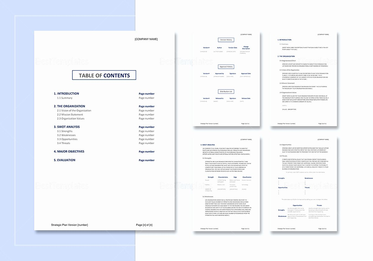 Strategic Plan Template Word New Strategic Plan Template In Word Google Docs Apple Pages