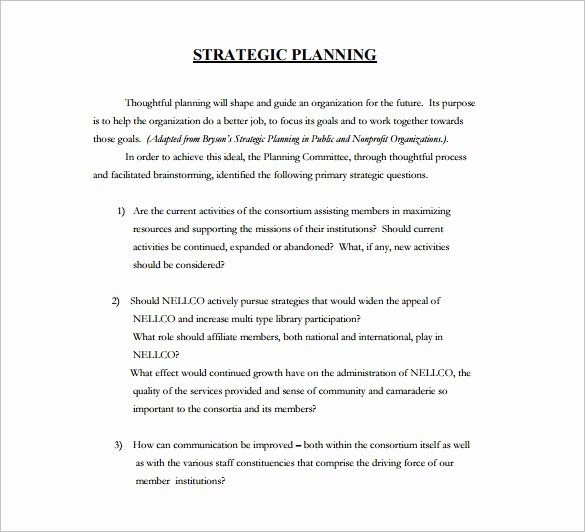 Strategic Plan Templates Free Awesome 36 Strategic Plan Templates Pdf Docs
