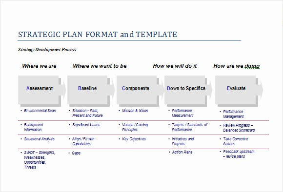 Strategic Plan Templates Free Elegant Sample Strategic Plan Template 25 Free Documents In Pdf