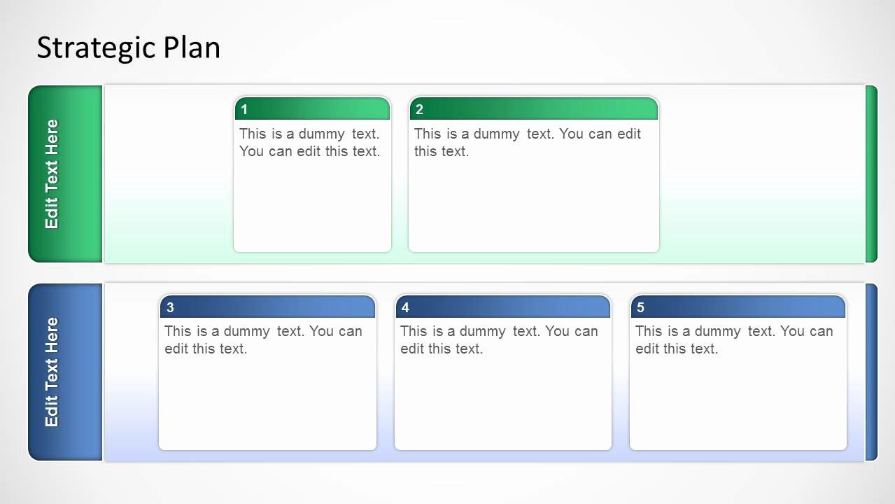 Strategic Planning Templates Free Elegant Basic Strategic Plan Template for Powerpoint Slidemodel