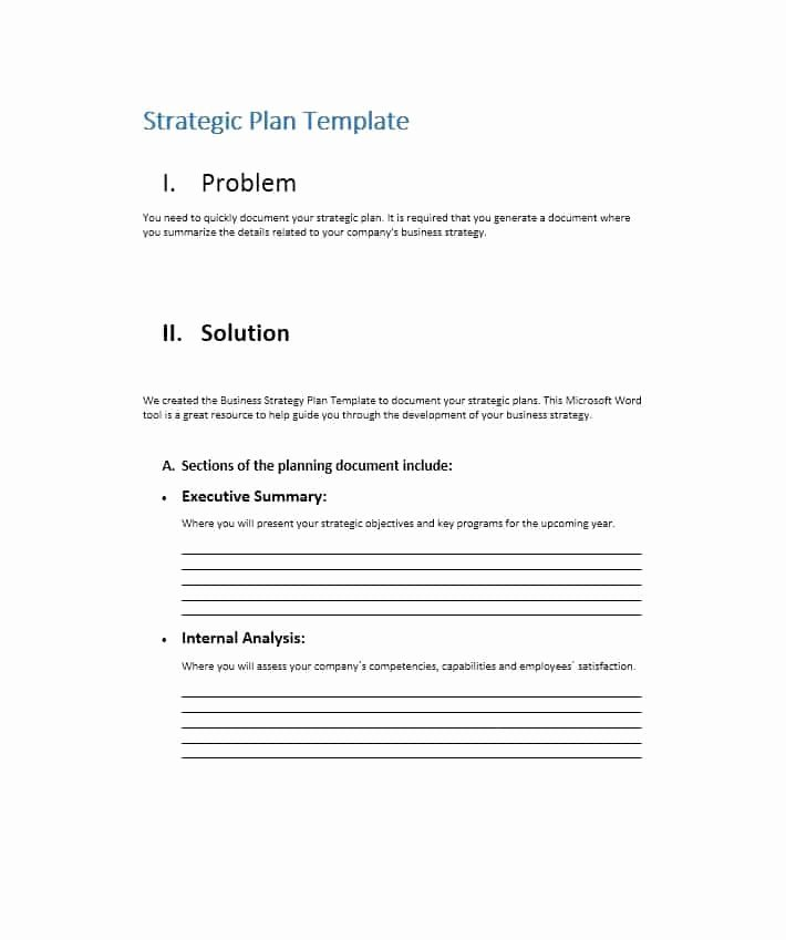 Strategic Planning Templates Free Fresh 32 Great Strategic Plan Templates to Grow Your Business