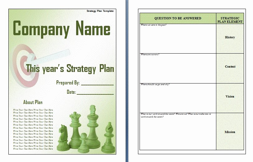 Strategic Planning Templates Free Fresh Free Strategic Plan Template