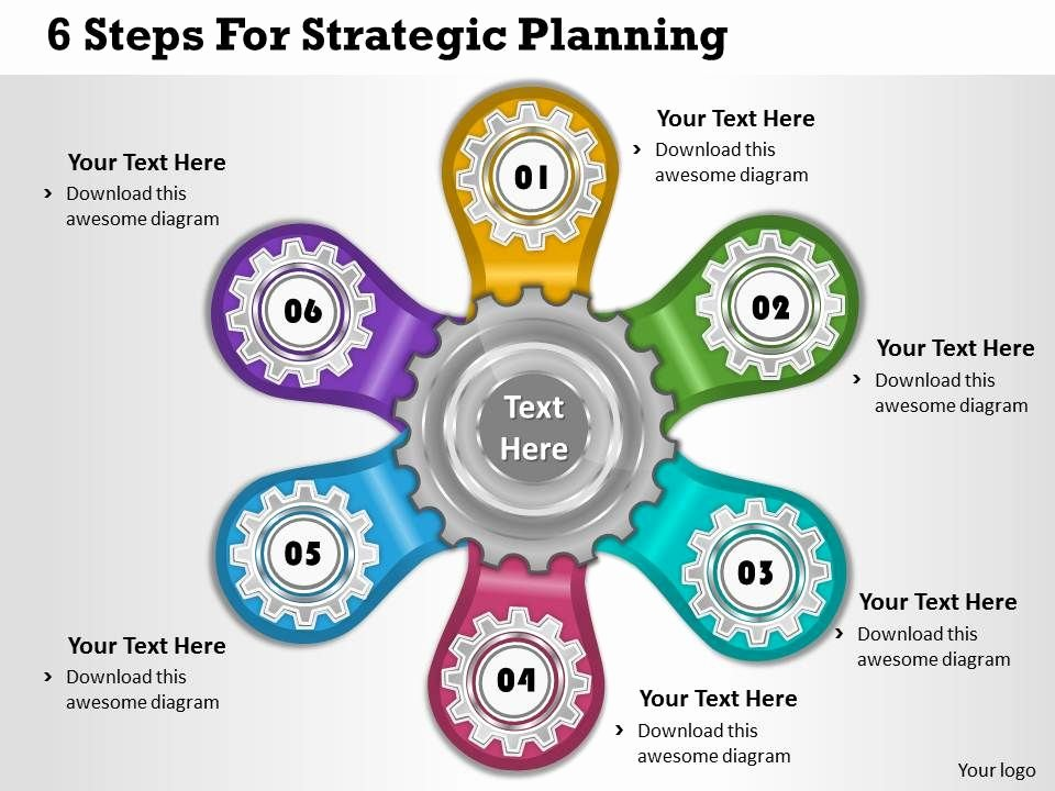Strategic Planning Templates Free Lovely 1013 Business Ppt Diagram 6 Steps for Strategic Planning