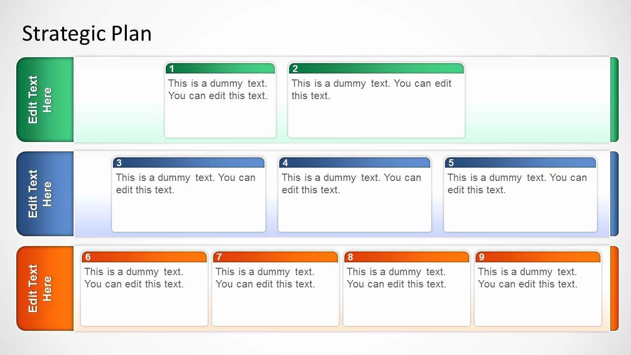 Strategic Planning Templates Free Luxury Basic Strategic Plan Template for Powerpoint Slidemodel