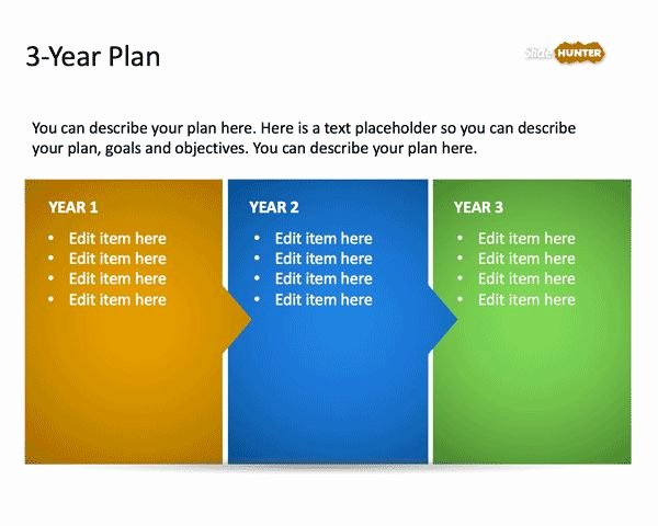 Strategic Planning Templates Free New 3 Year Strategic Plan Powerpoint Template is A Free