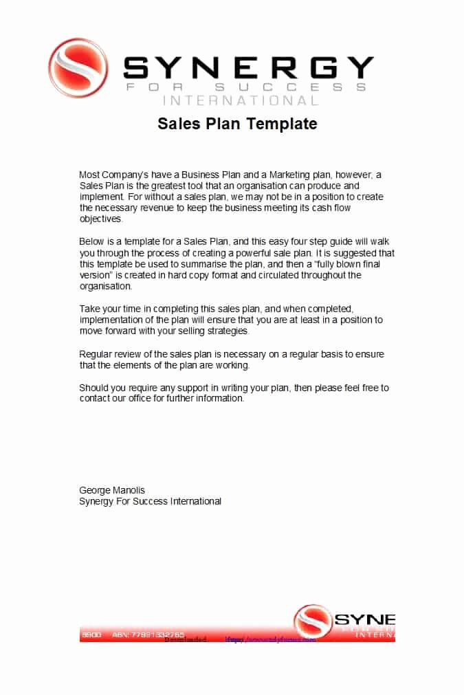 Strategic Sales Plan Template Elegant 32 Sales Plan & Sales Strategy Templates [word & Excel]