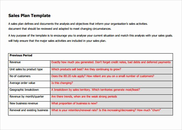 Strategic Sales Plan Template Fresh Free 22 Sales Plan Templates In Pdf Rtf Ppt