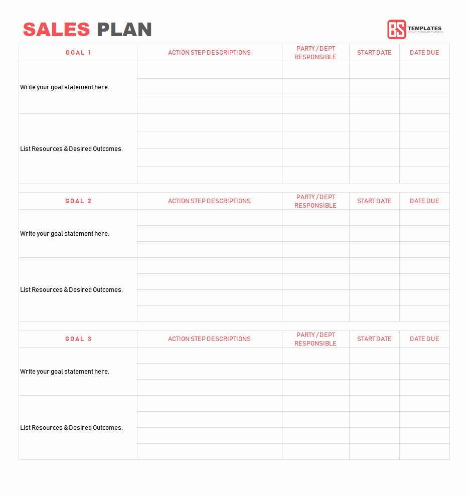 Strategic Sales Plan Template New Sales Territory Plan Template Brilliant Ideas Sample
