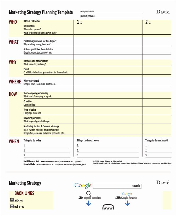 Strategy Plan Template Word Unique Marketing Strategy Template 13 Free Pdf Word format