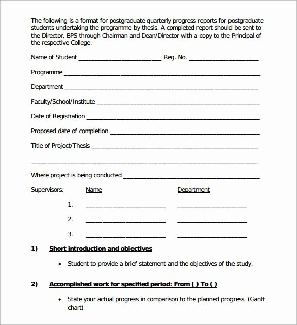 Student Progress Report Template Best Of Sample Student Progress Report 17 Documents In Pdf