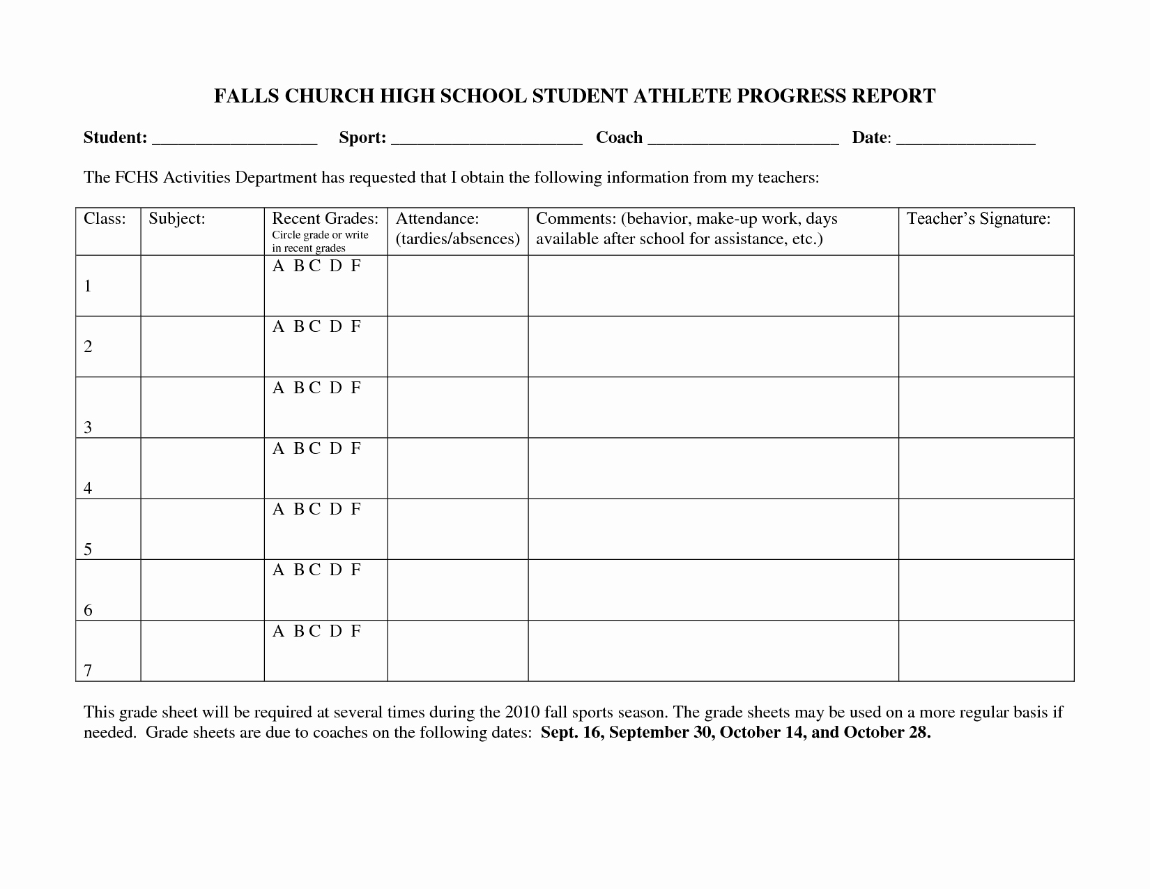 Student Progress Report Template Inspirational Best S Of Student Progress Report Template Printable