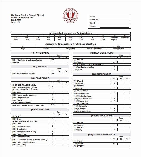 Student Progress Report Template Luxury Writing Good Reports Pdf