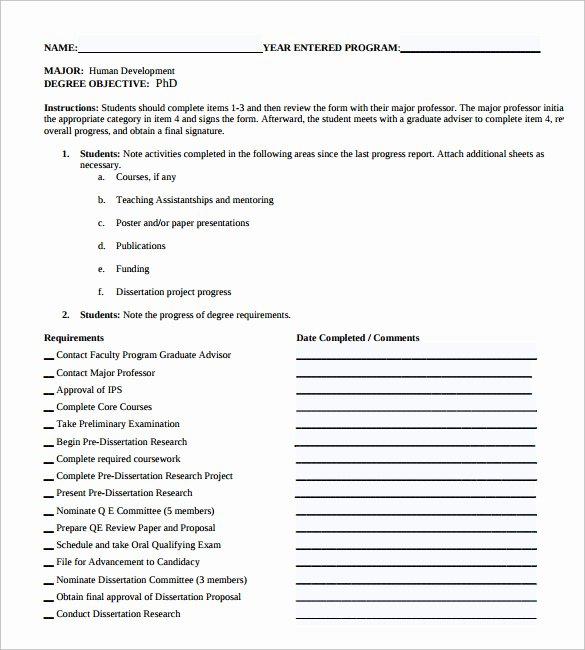 Student Progress Report Template New Sample Student Progress Report 17 Documents In Pdf