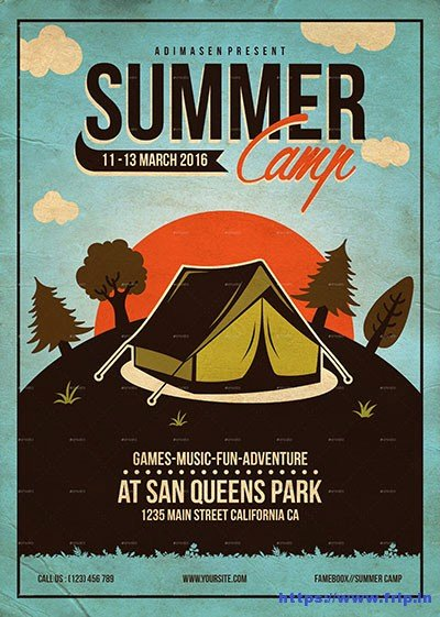 Summer Camp Flyer Template Awesome 50 Best Kids Summer Camp Flyer Print Templates 2019