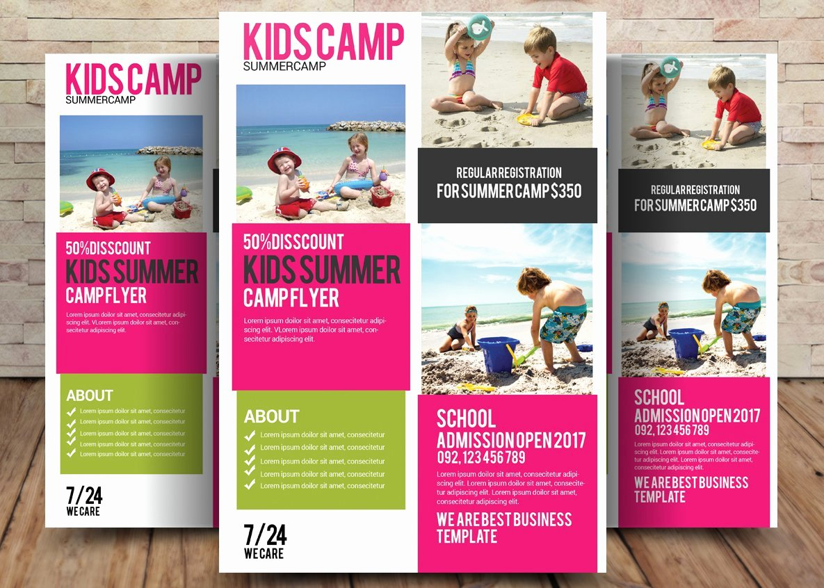 Summer Camp Flyer Template Awesome Kids Summer Camp Flyer Template Flyer Templates