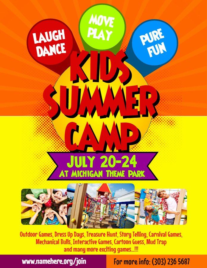 Summer Camp Flyer Template Beautiful Artist Corner Rani Ramli From Malaysia