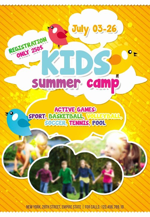 Summer Camp Flyer Template Elegant Flyer Template Kids Summer Camp Cover