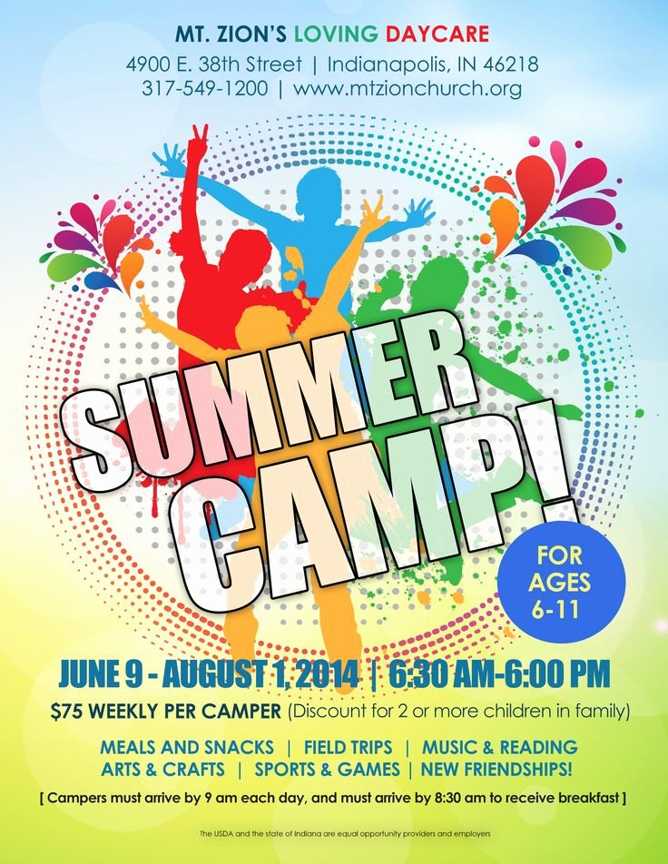 Summer Camp Flyer Template Elegant Summer Camp Flyer Idea Kid Min Pinterest