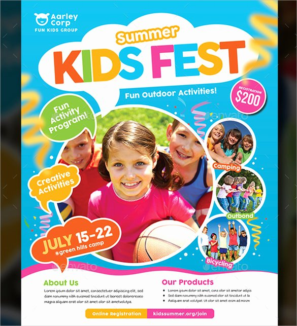 Summer Camp Flyer Template Fresh 51 Summer Camp Flyer Templates Psd Eps Indesign Word