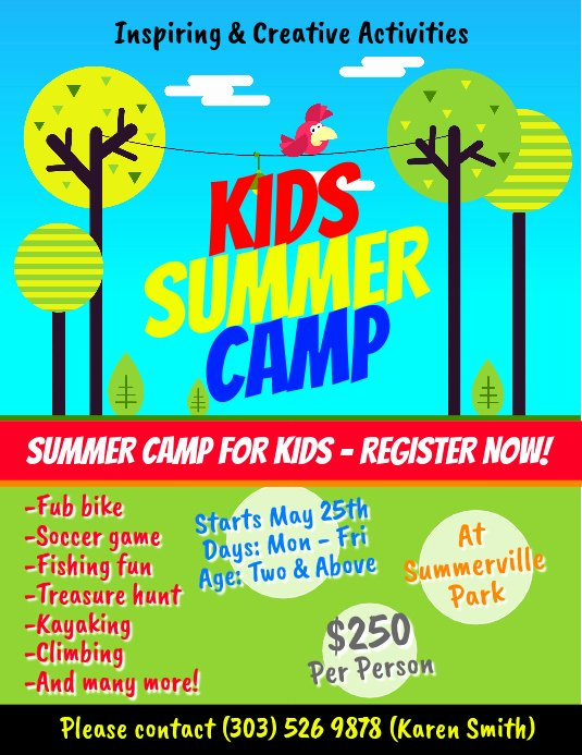 Summer Camp Flyer Template Inspirational Copy Of Kids Summer Camp Flyer Template