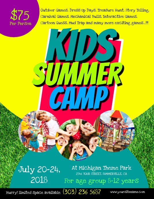 Summer Camp Flyer Template Luxury Kids Summer Camp Flyer Template