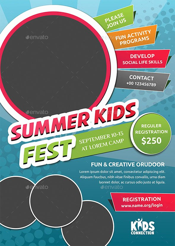 Summer Camp Flyer Template New 40 Cool Flyer Templates for Kid & School – Desiznworld