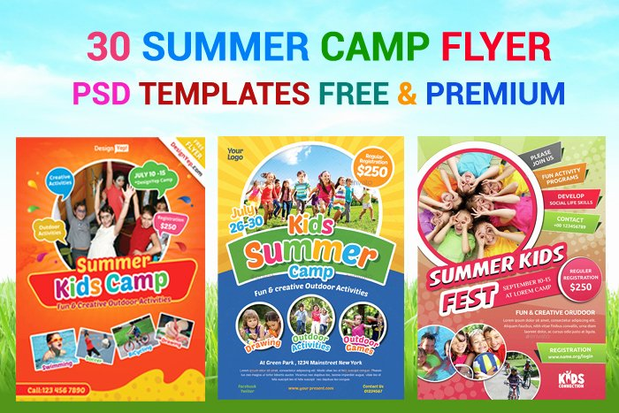 Summer Camp Flyer Template Unique 30 Summer Camp Flyer Psd Templates Free & Premium Designyep