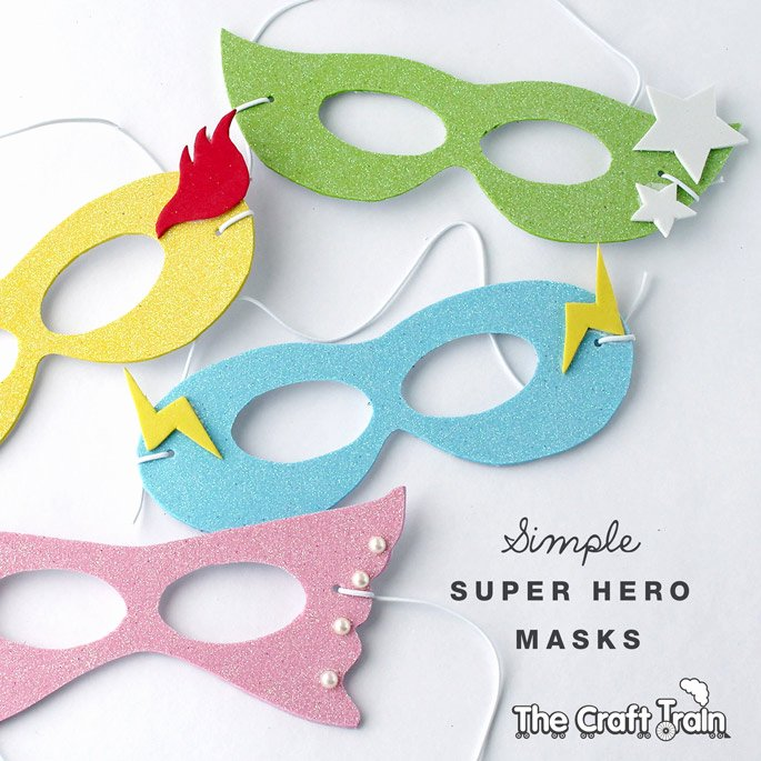 Superhero Mask Template Pdf Awesome Simple Super Hero Masks with Printable Template