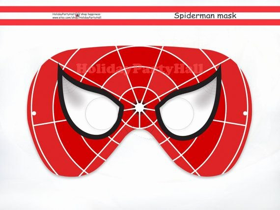 Superhero Mask Template Pdf Awesome Spiderman Printable Mask Spider Man Party Masks Spiderman