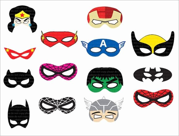 Superhero Mask Template Pdf Awesome Superhero Mask Template 7 Download Documents In Psd